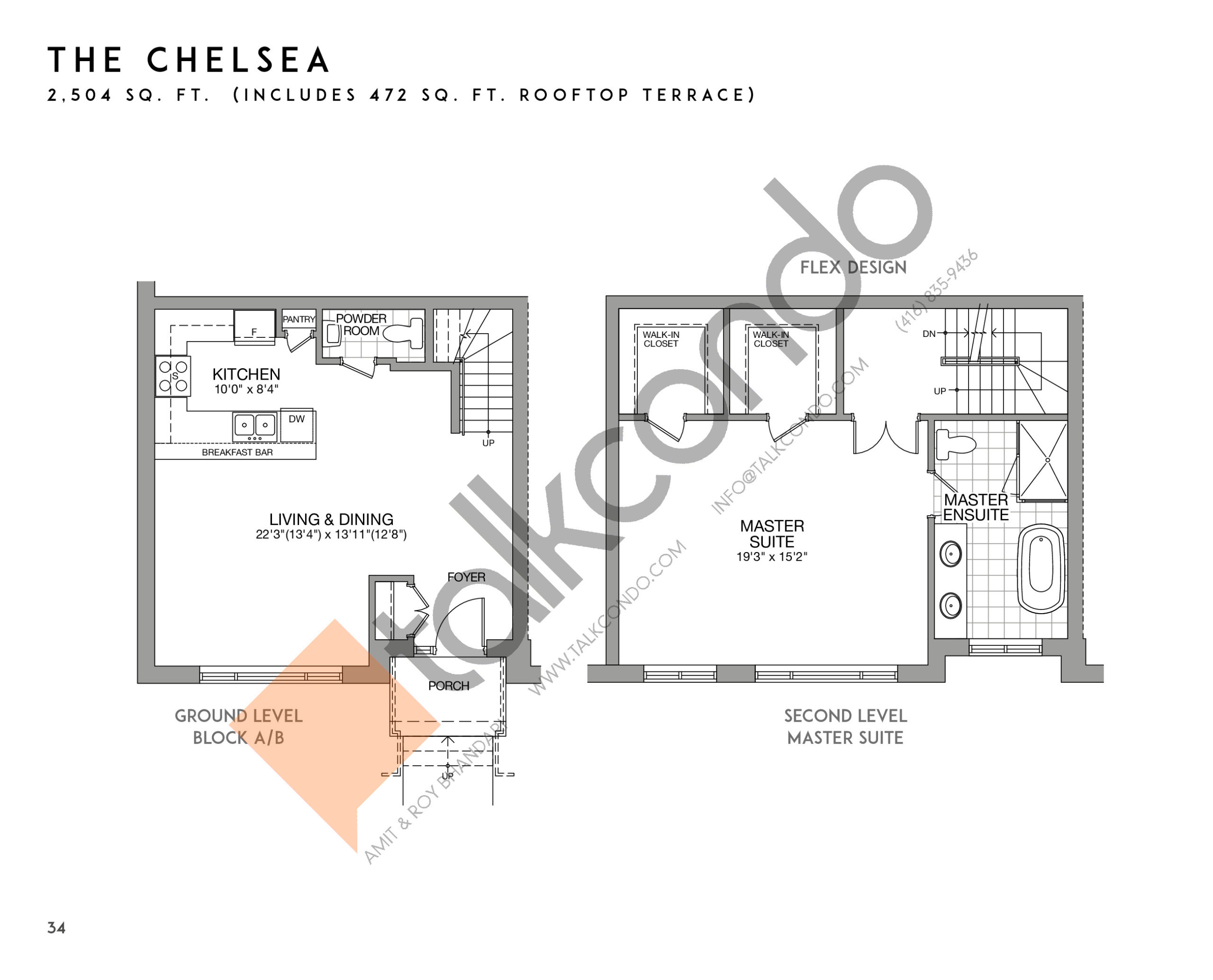 The Chelsea (1/2) Floor Plan at Eleven Altamont Towns - 2504 sq.ft