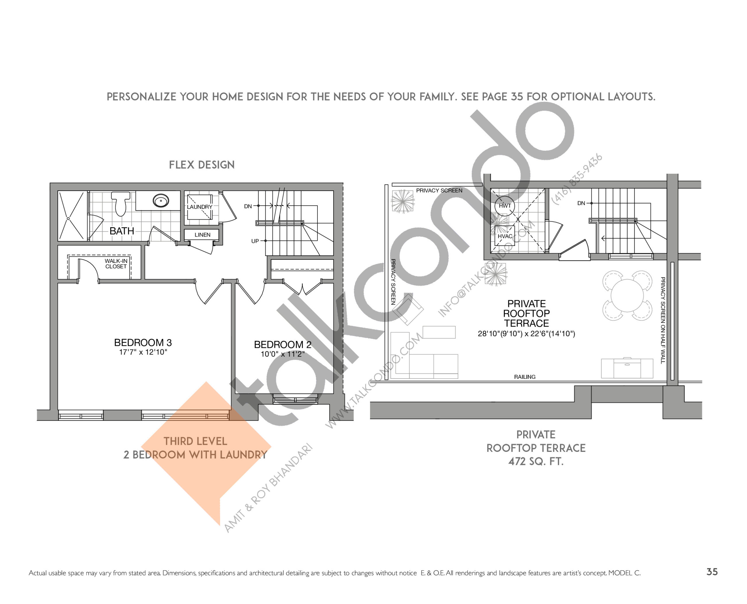 The Chelsea (2/2) Floor Plan at Eleven Altamont Towns - 2504 sq.ft