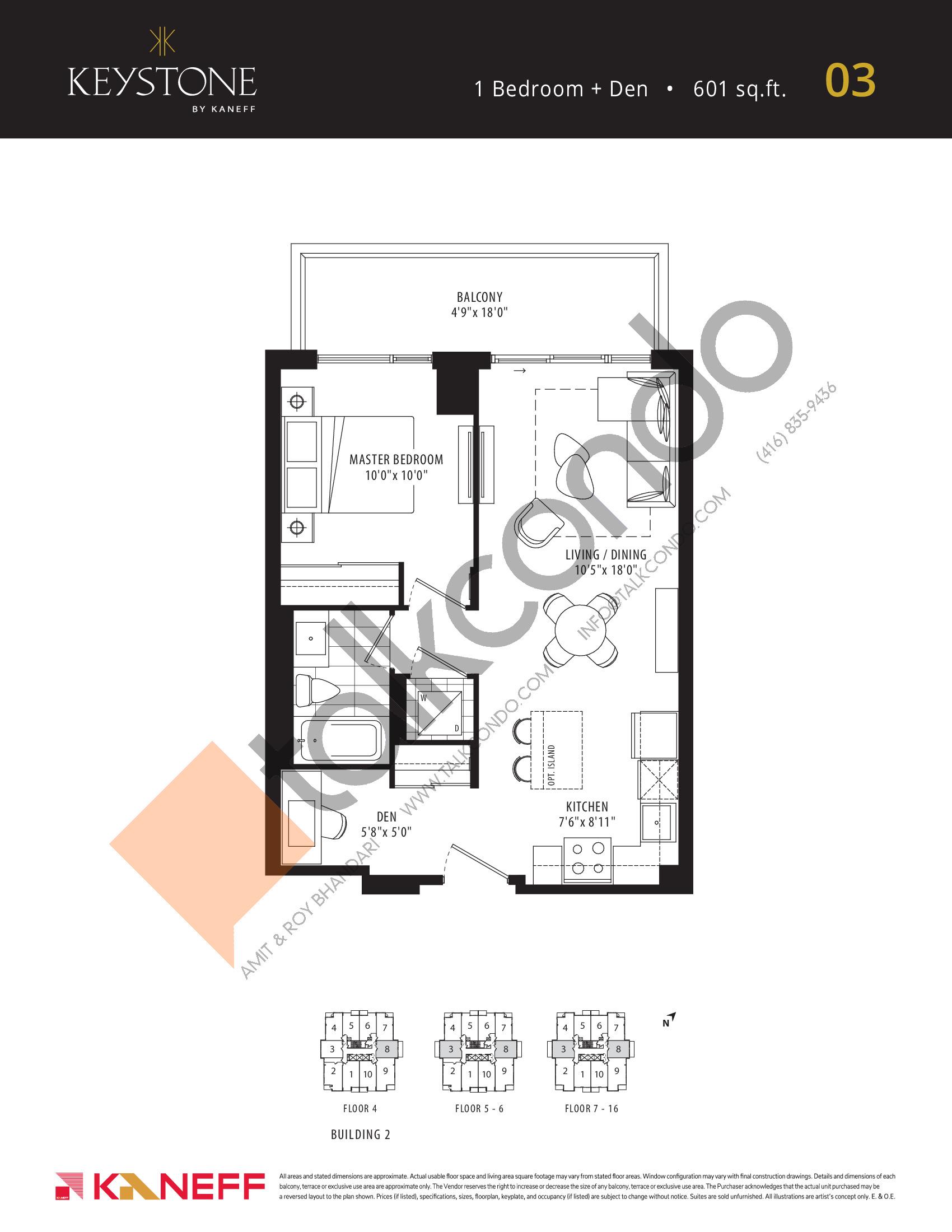 03 Floor Plan at Keystone Condos Phase 2 - 601 sq.ft