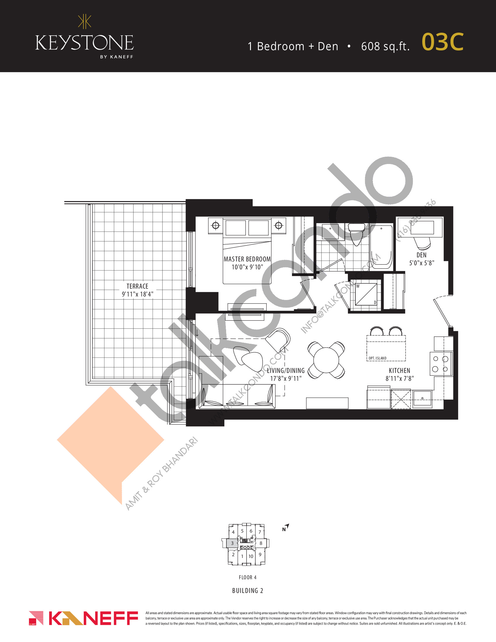 03C Floor Plan at Keystone Condos Phase 2 - 608 sq.ft