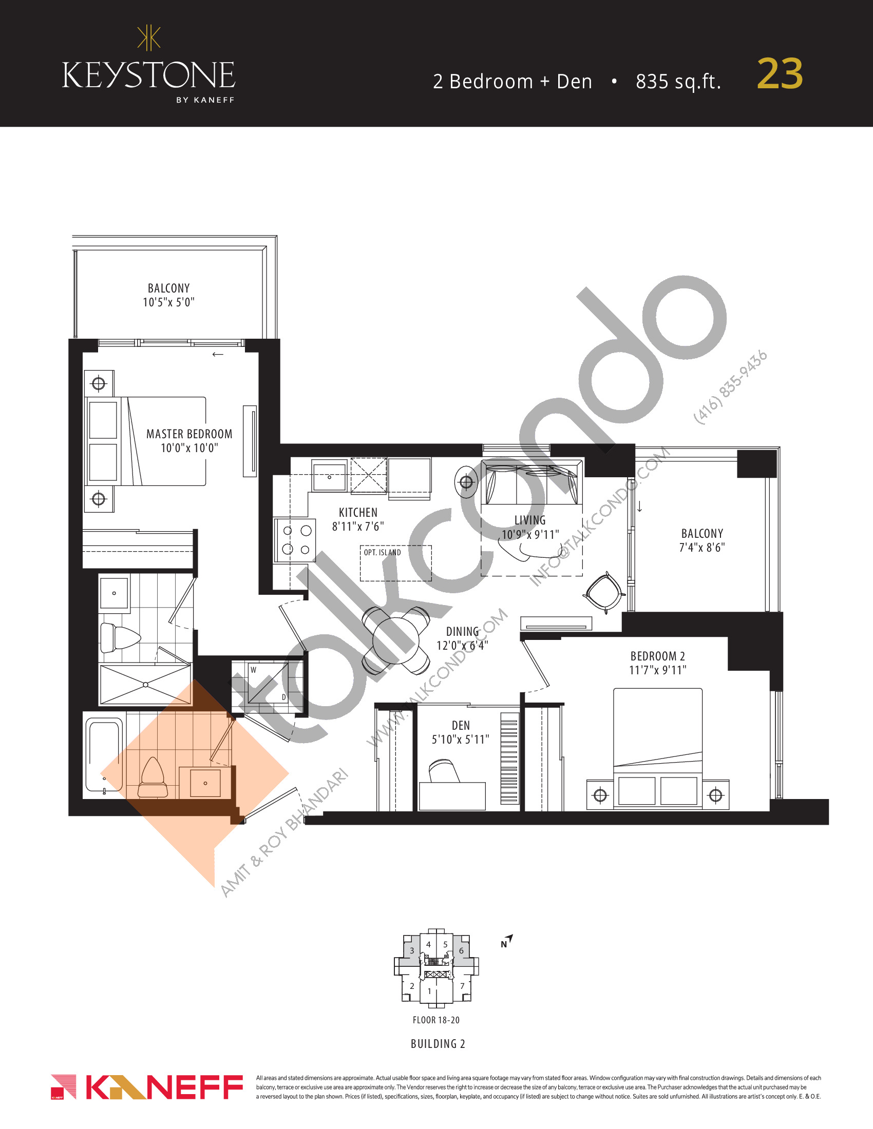 23 Floor Plan at Keystone Condos Phase 2 - 835 sq.ft