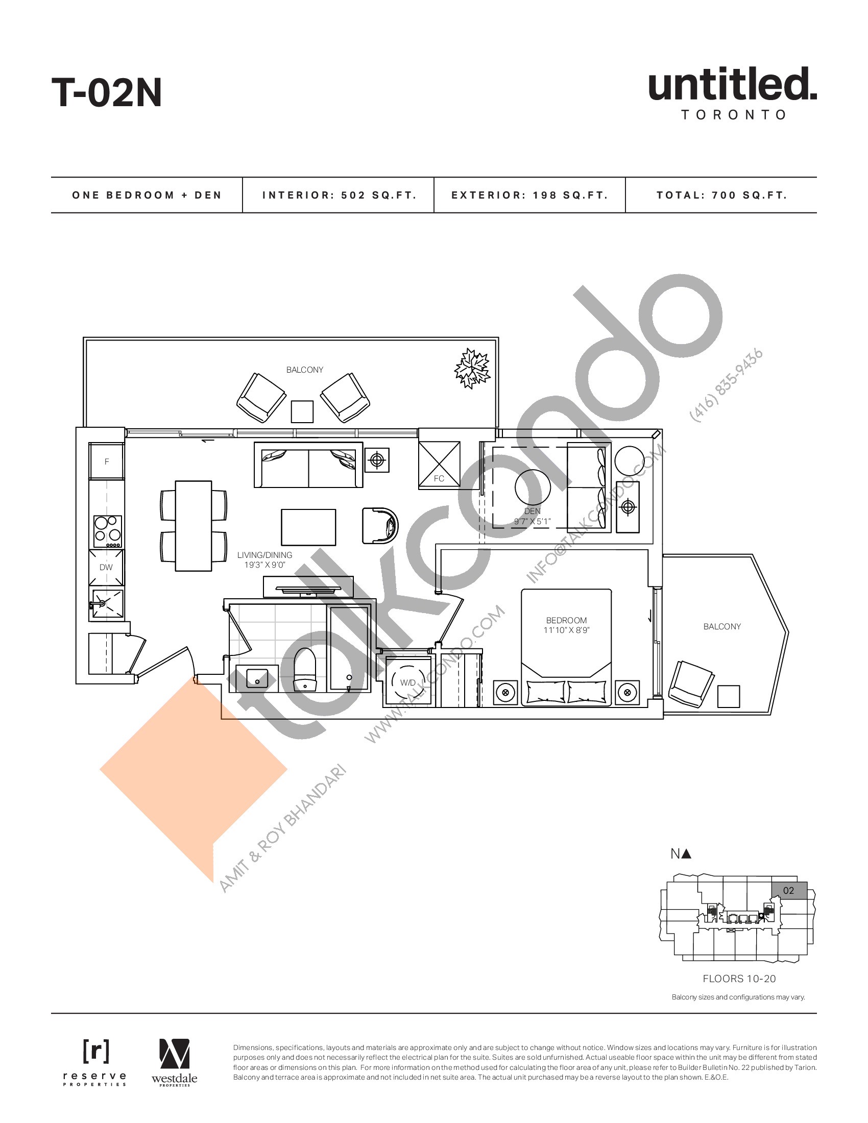 T-02N Floor Plan at Untitled North Tower Condos - 502 sq.ft