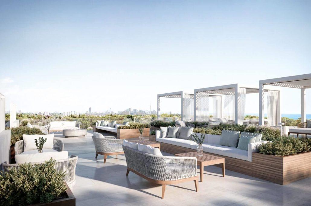 Westport Condos Rooftop Amenity Facing South East