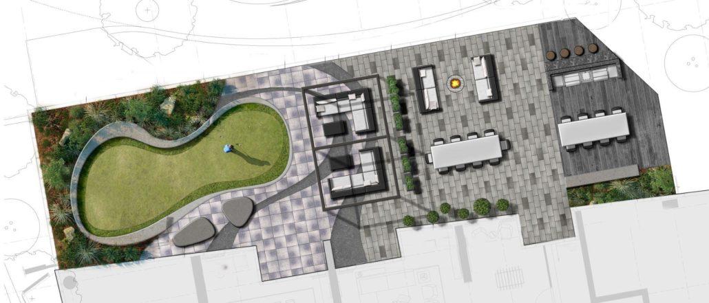 Lakeside Residences Exterior Amenity Plan