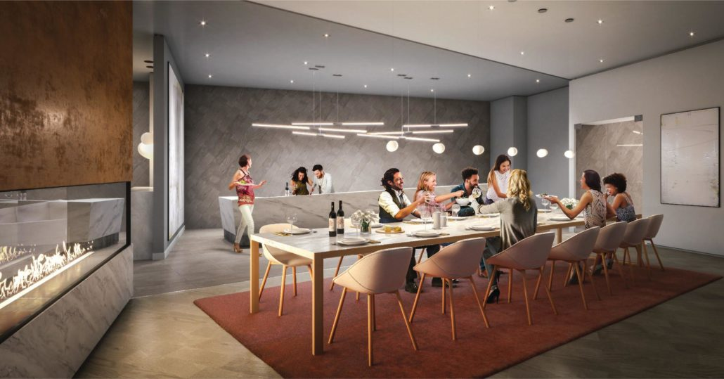 M City Condos Phase 2 Private Dining Room