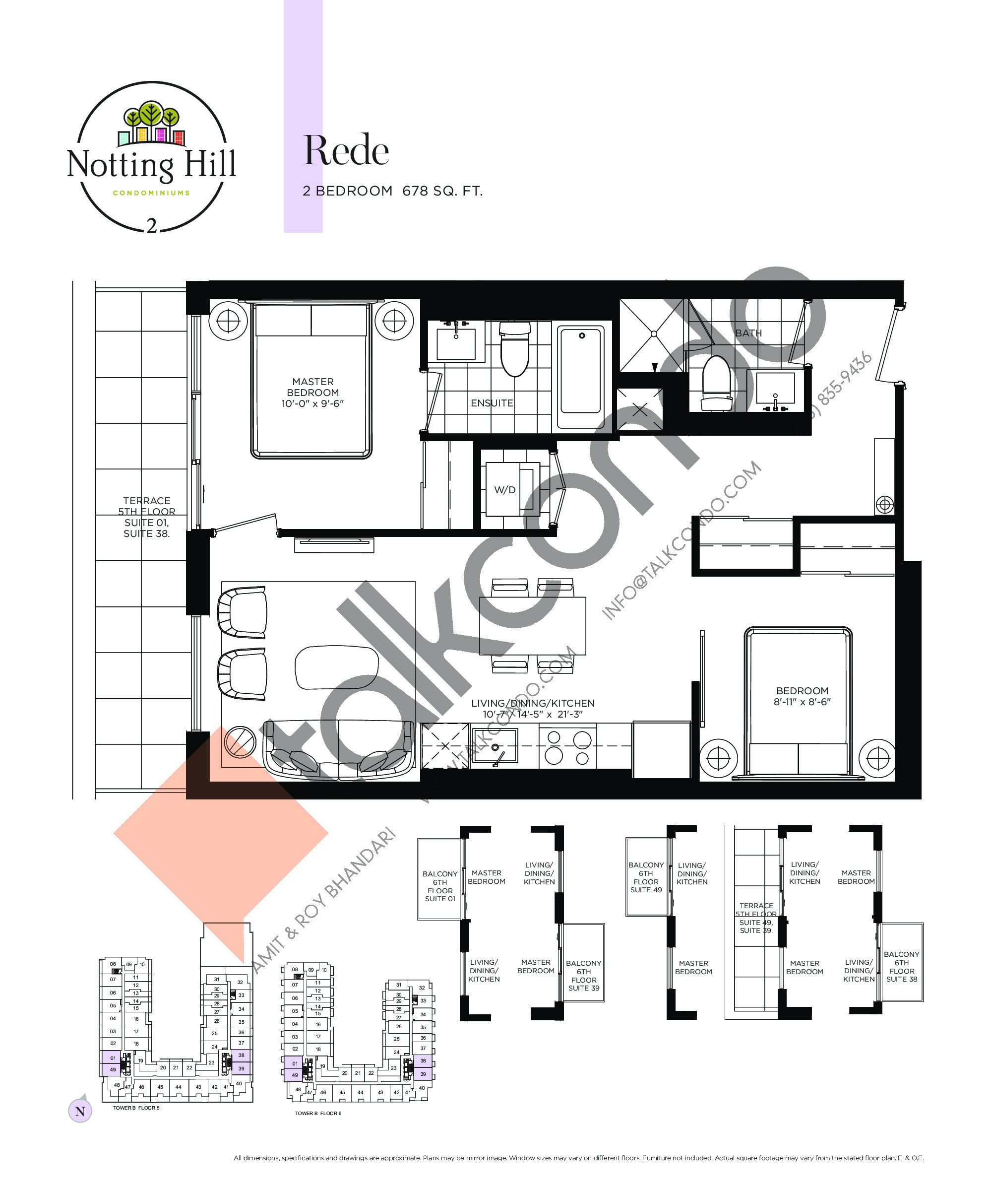 Rede Floor Plan at Notting Hill Phase 3 Condos - 678 sq.ft