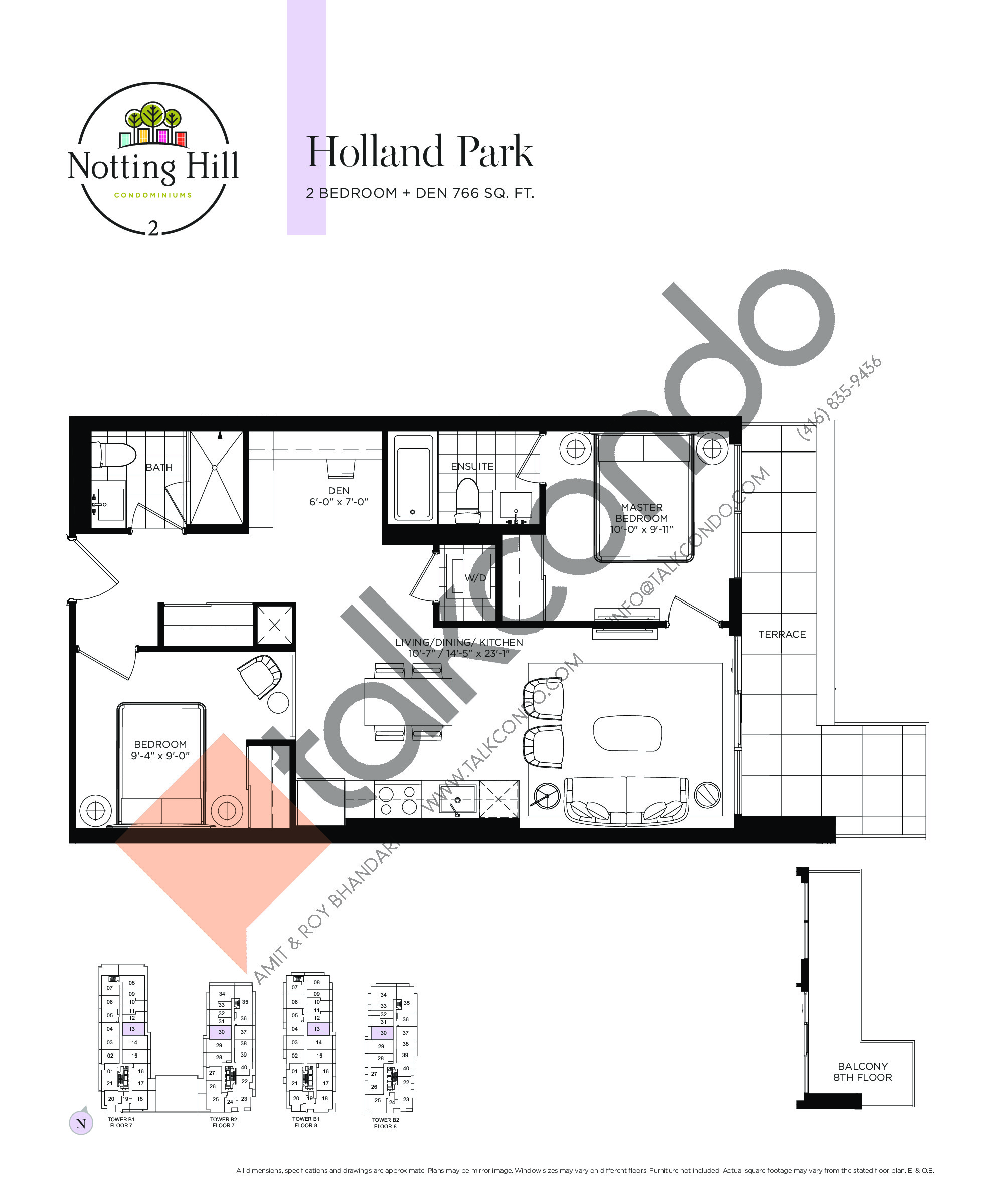 Holland Park Floor Plan at Notting Hill Phase 3 Condos - 766 sq.ft