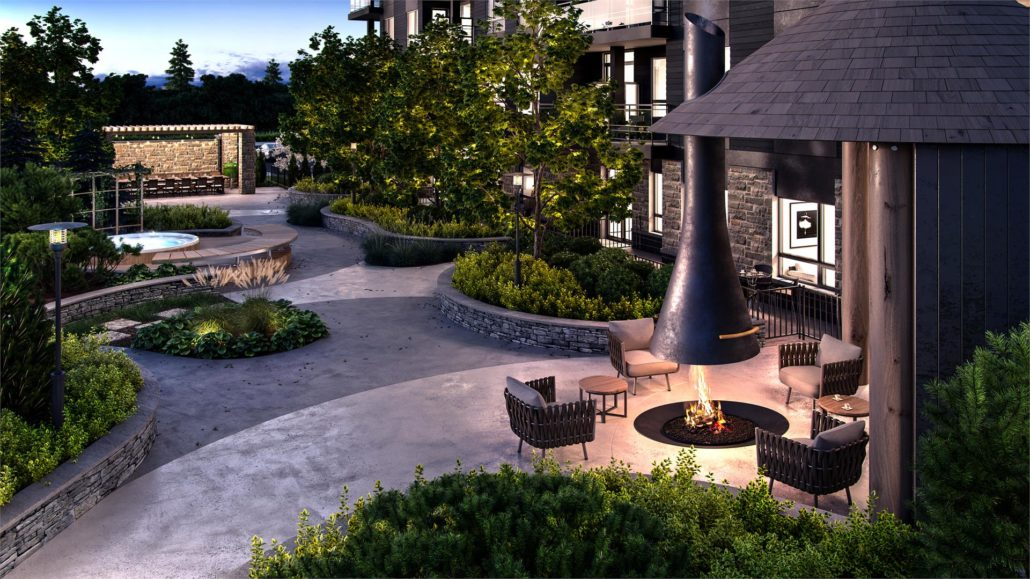 Ro at Blackstone Condominiums Courtyard