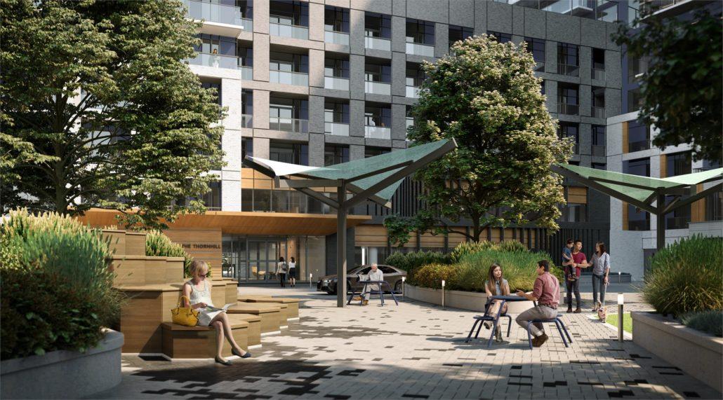 The Thornhill Condos Courtyard