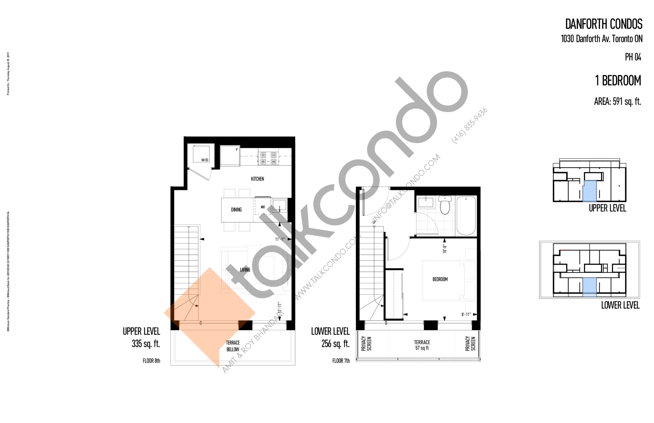 PH04 Floor Plan at THEO Condos - 591 sq.ft
