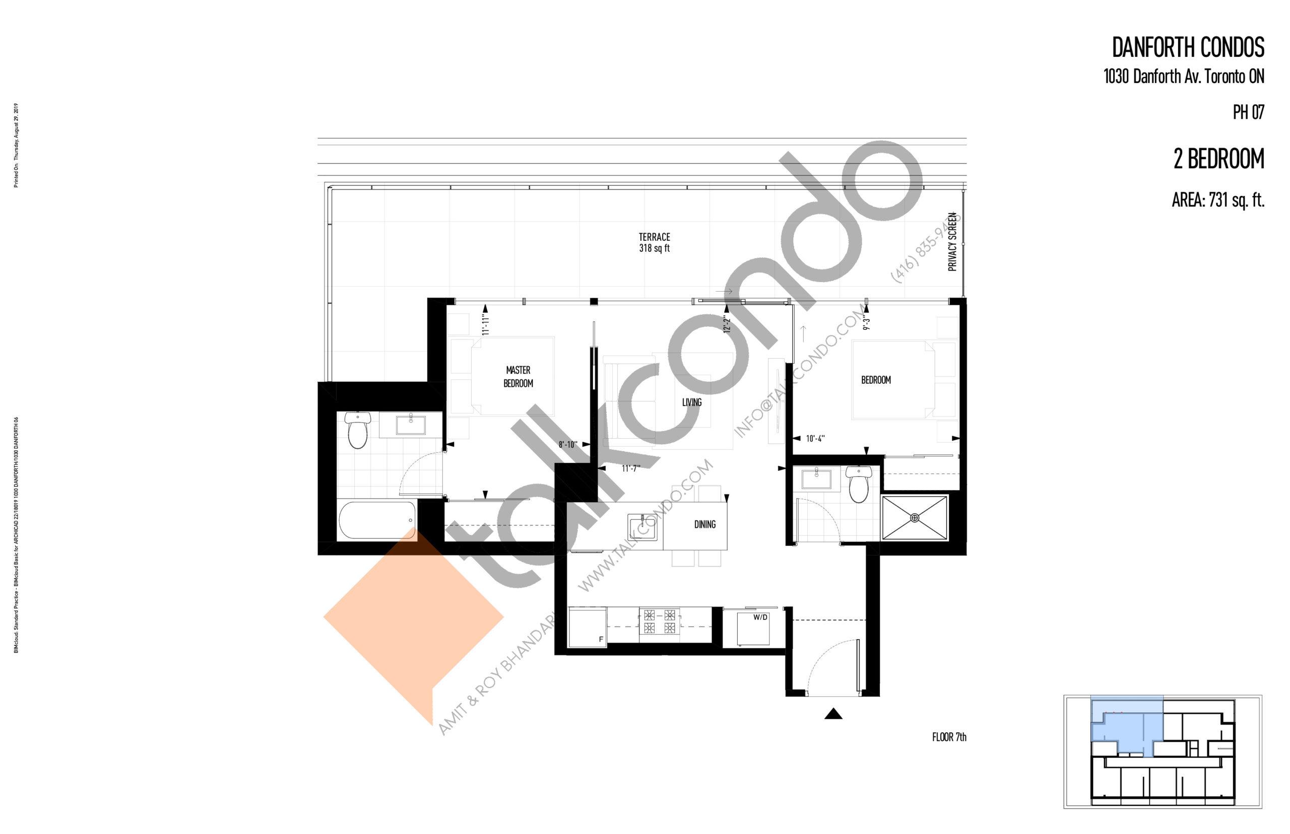 PH07 Floor Plan at THEO Condos - 731 sq.ft