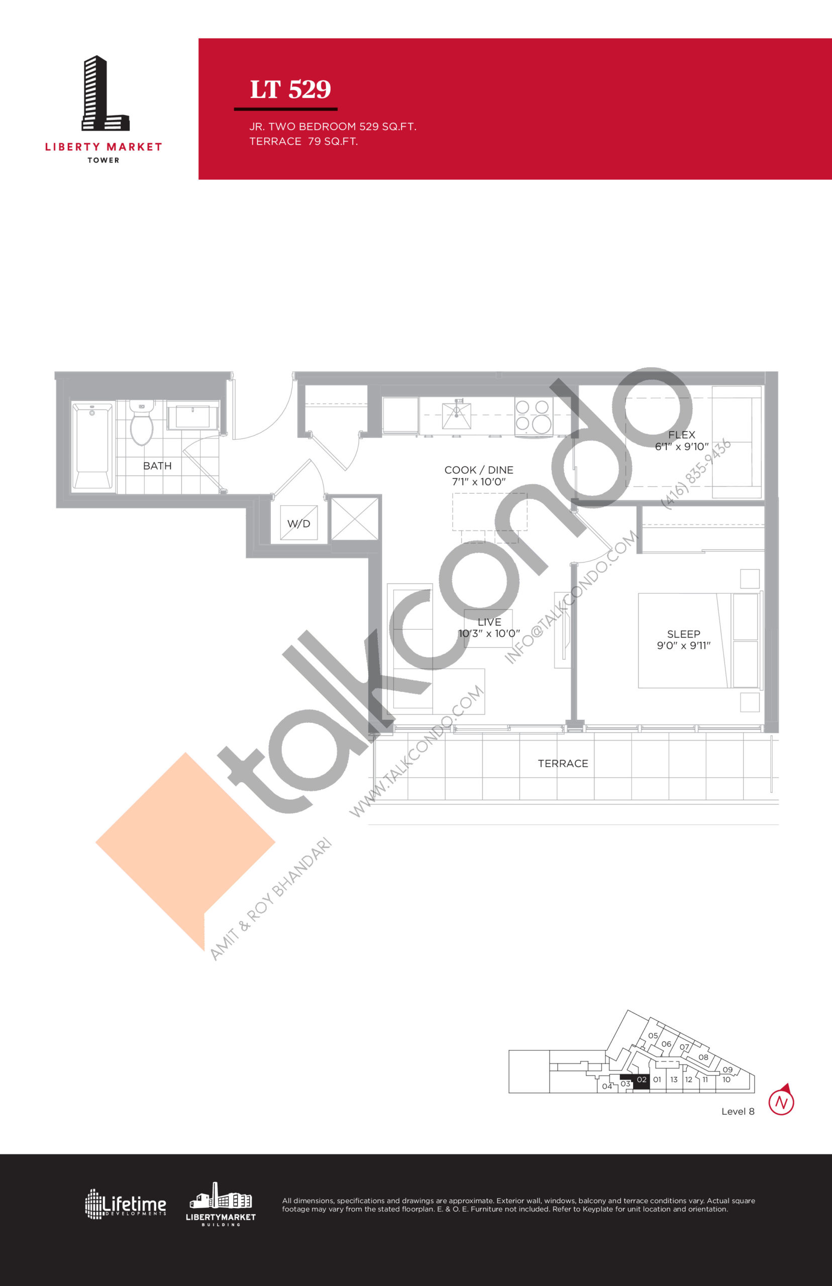 LT 529 - Terrace Collection Floor Plan at Liberty Market Tower Condos - 529 sq.ft