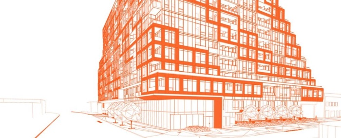 28 eastern condos exterior wire drawing