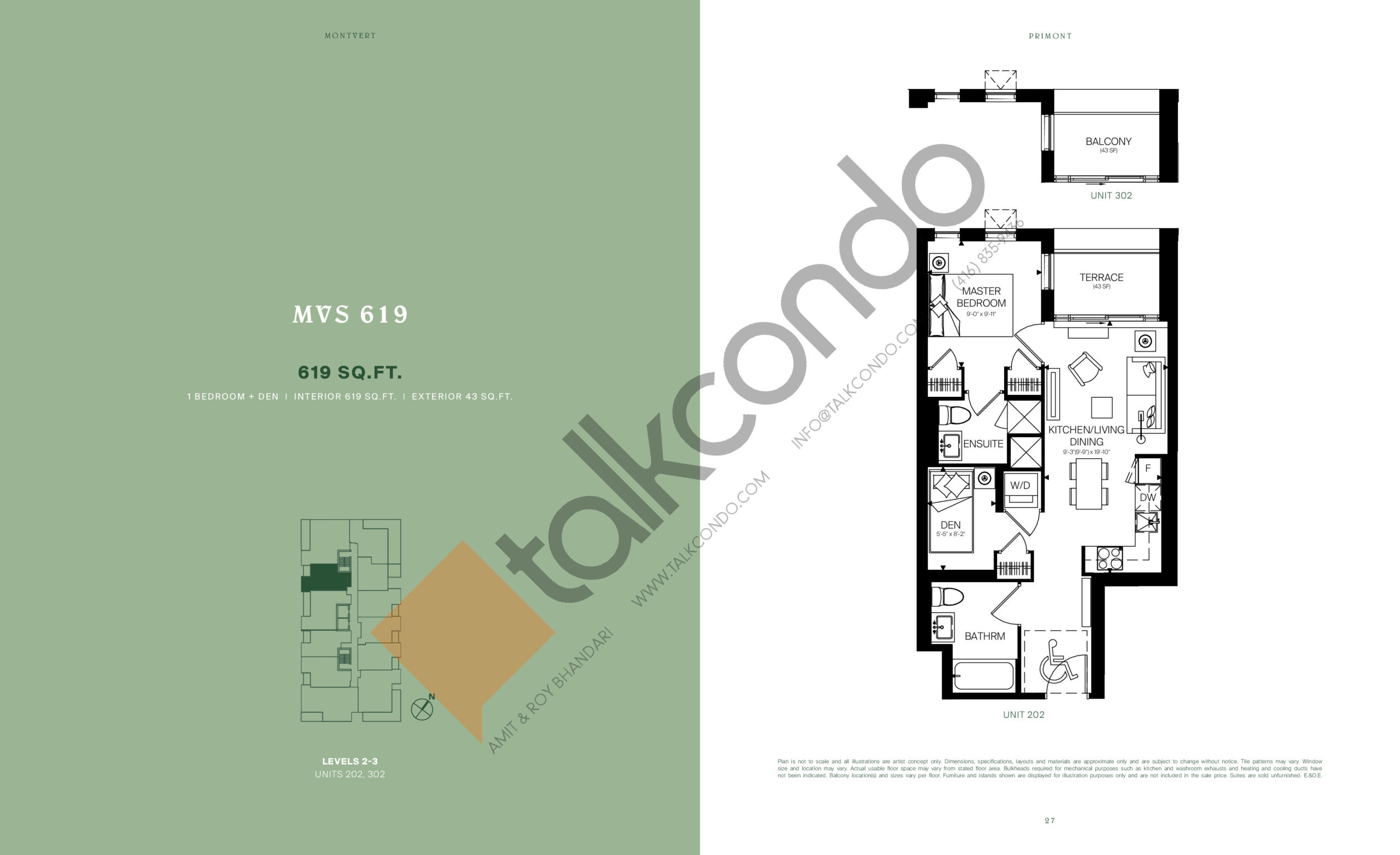 MVS 619 Floor Plan at MontVert Condos - 619 sq.ft