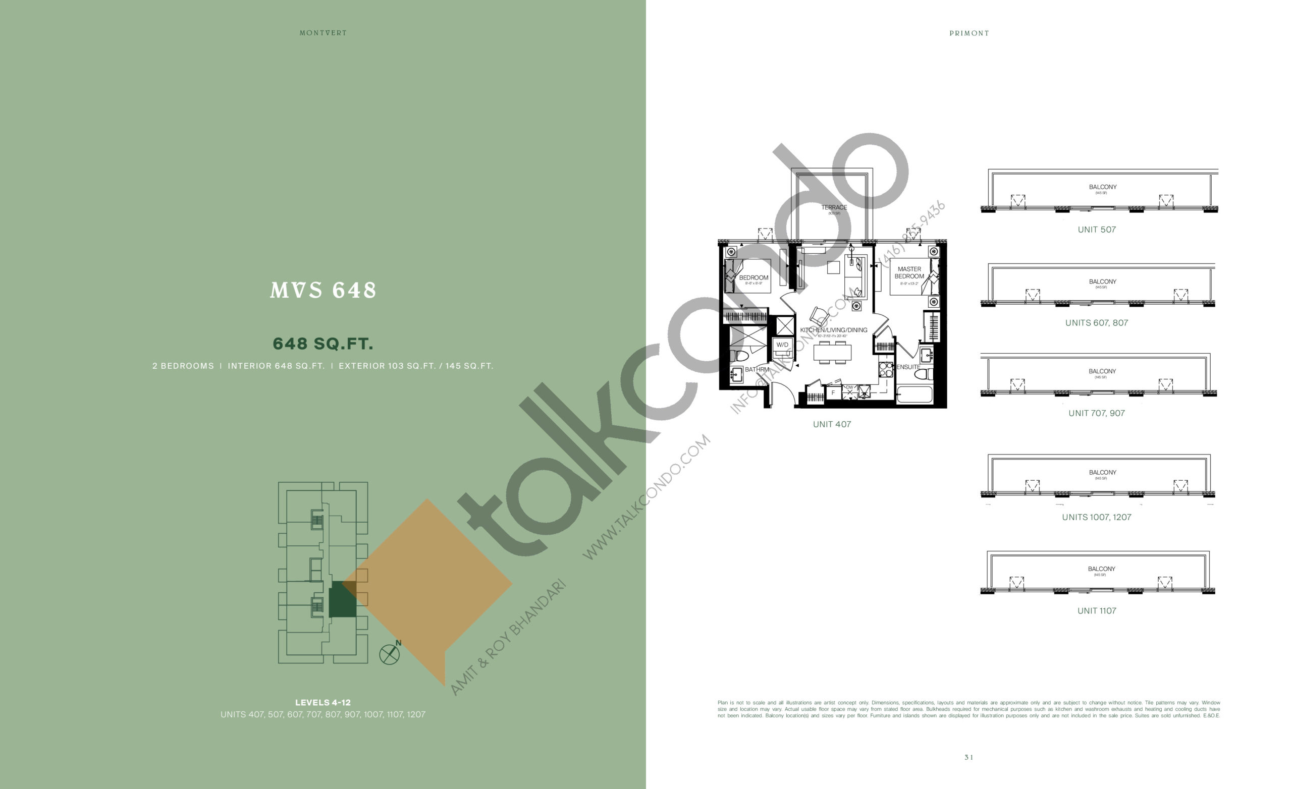 MVS 648 Floor Plan at MontVert Condos - 648 sq.ft