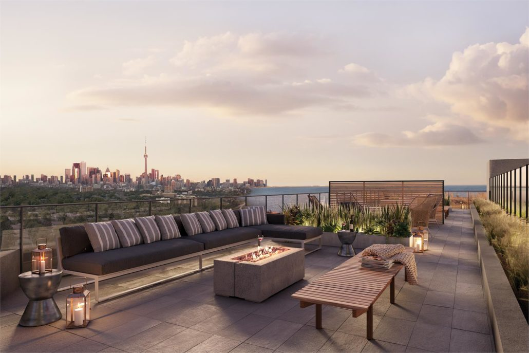 The King's Mill Condos Rooftop Terrace