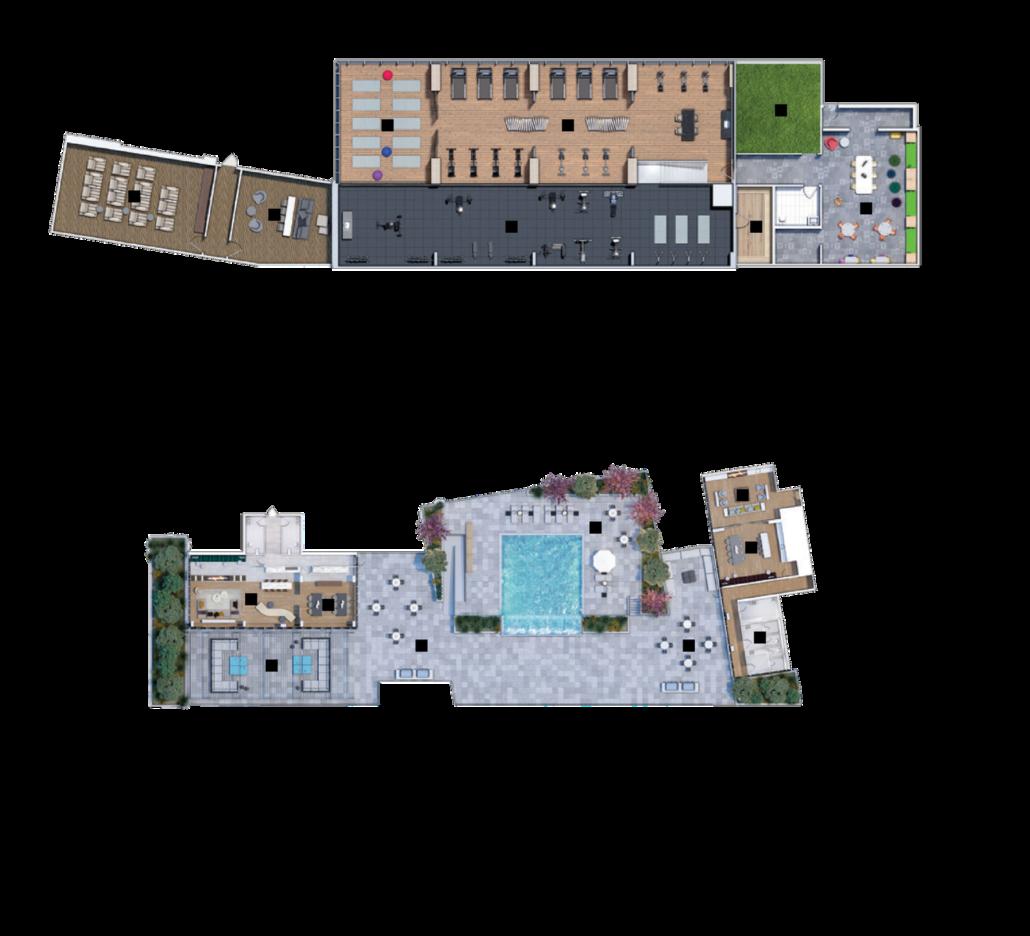 M2M Spaces Condos Amenity Plan