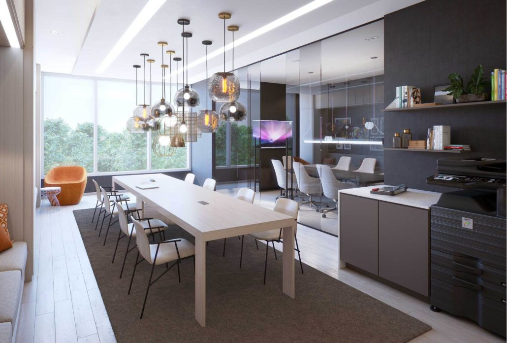 M2M Spaces Condos Co-Working Lounge