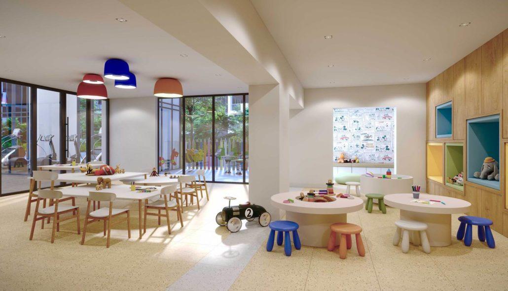 M2M Spaces Condos Indoor Playing Area
