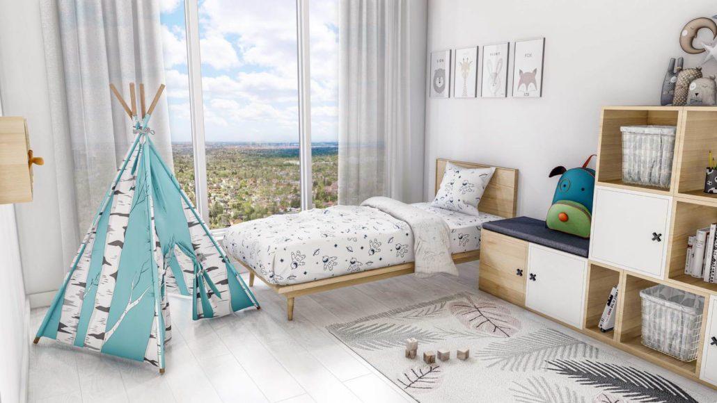 M2M Spaces Condos Kids Bedroom
