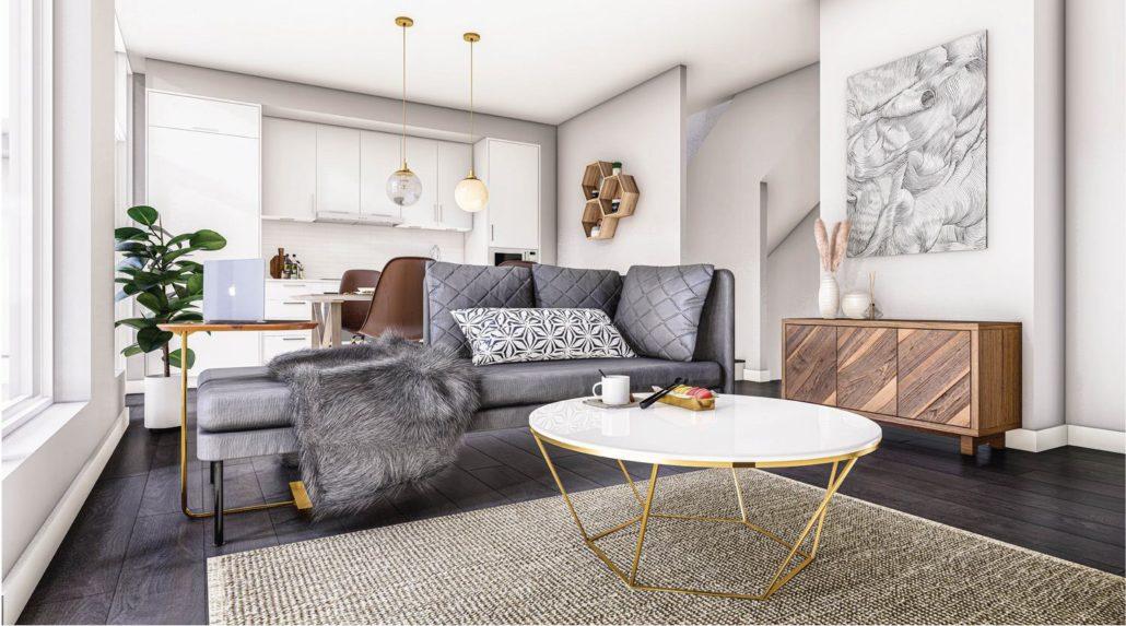 M2M Spaces Condos Living Area