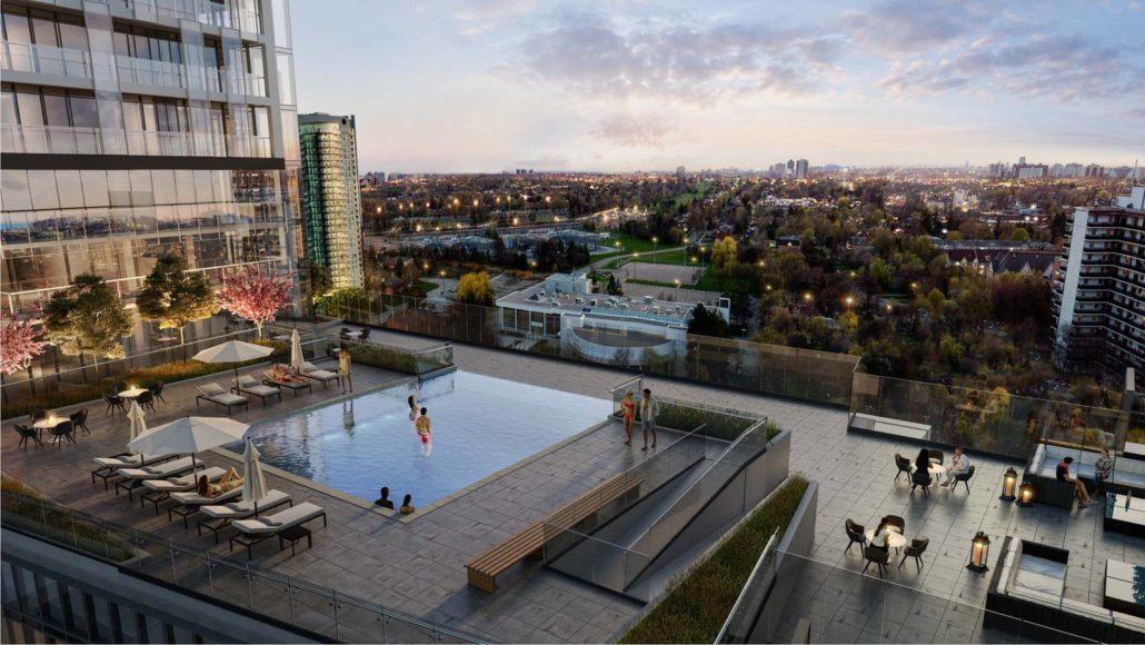 M2M Spaces Condos Rooftop Pool