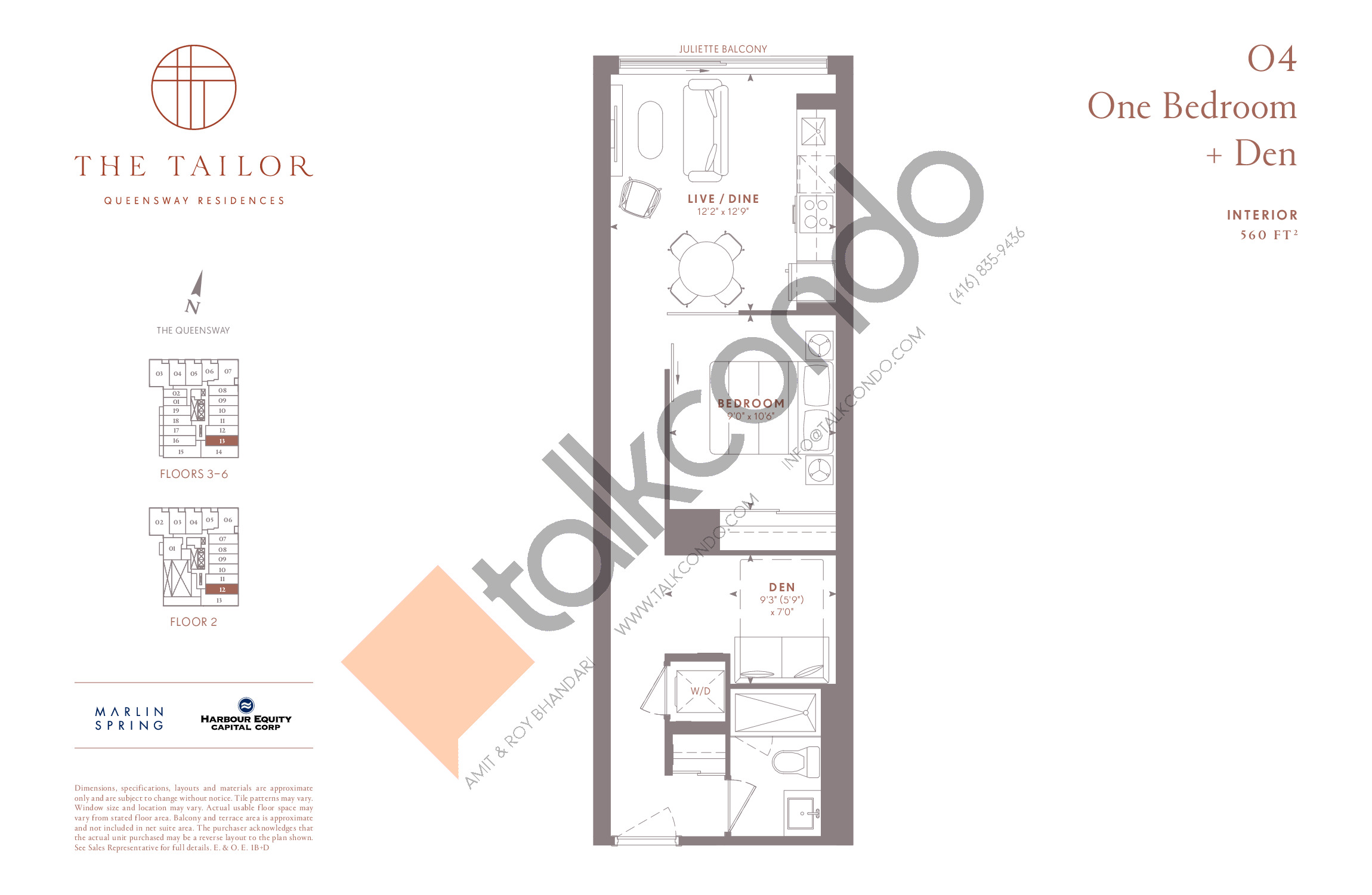 O4 Floor Plan at The Tailor Queensway Residences - 560 sq.ft