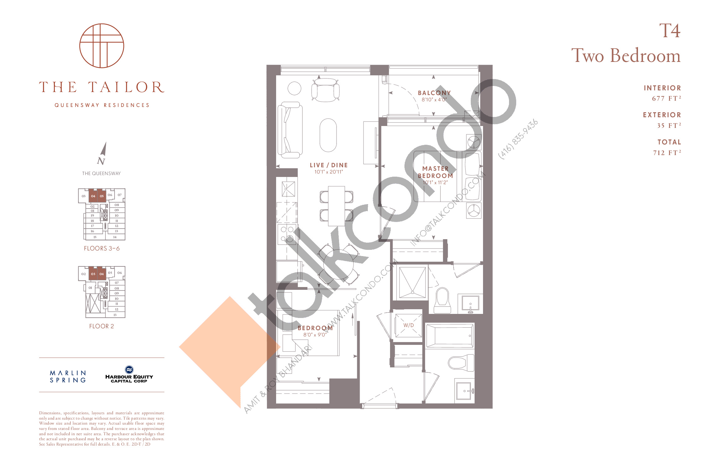 T4 Floor Plan at The Tailor Queensway Residences - 677 sq.ft