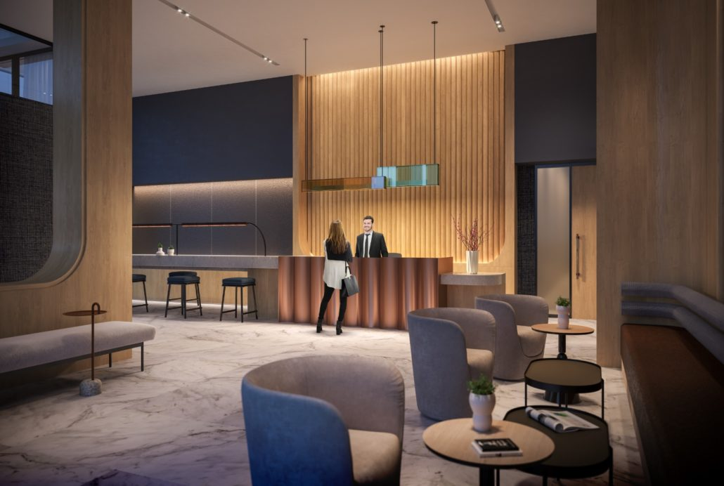 The Tailor Queensway Residences Lobby
