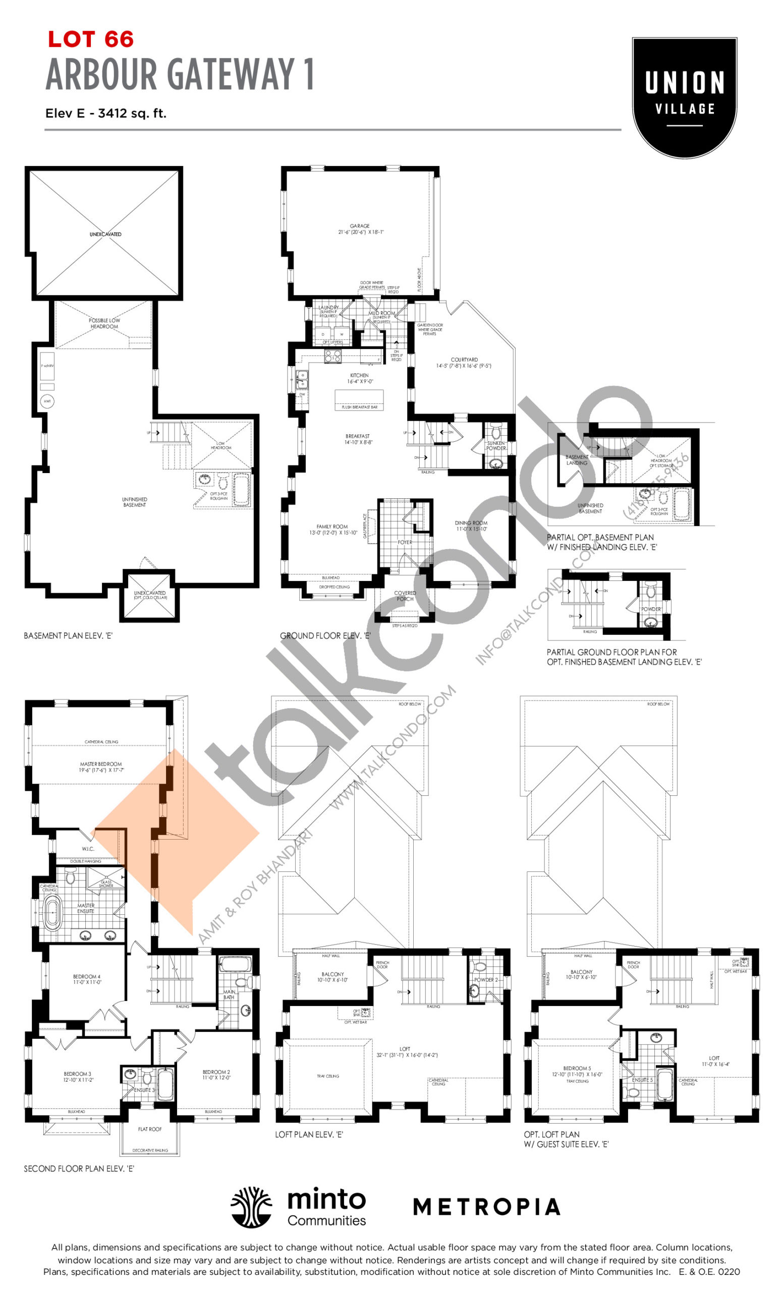 Arbour Gateway 1 Elev E - The Rosewood Collection Floor Plan at Union Village - 3412 sq.ft
