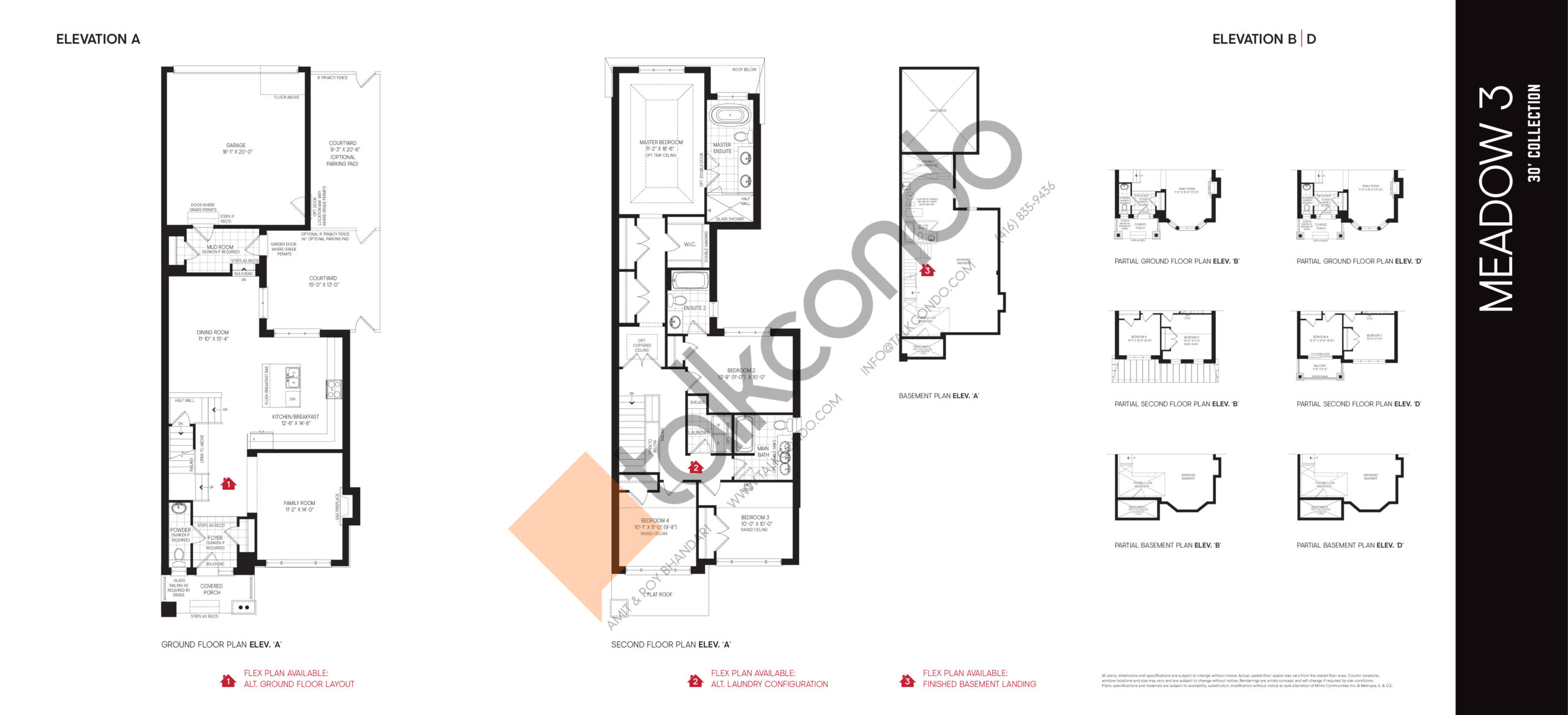 Meadow 3 - 30' Collection Floor Plan at Union Village - 2361 sq.ft