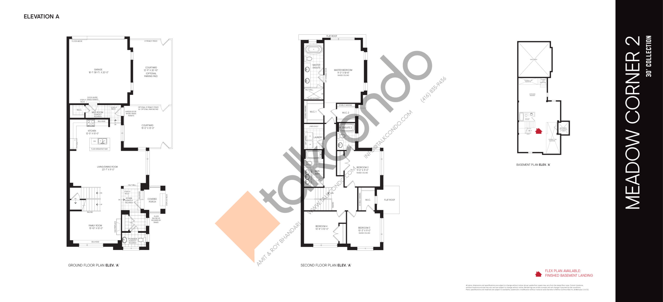 Meadow Corner 2 Elev A - 30' Collection Floor Plan at Union Village - 2472 sq.ft