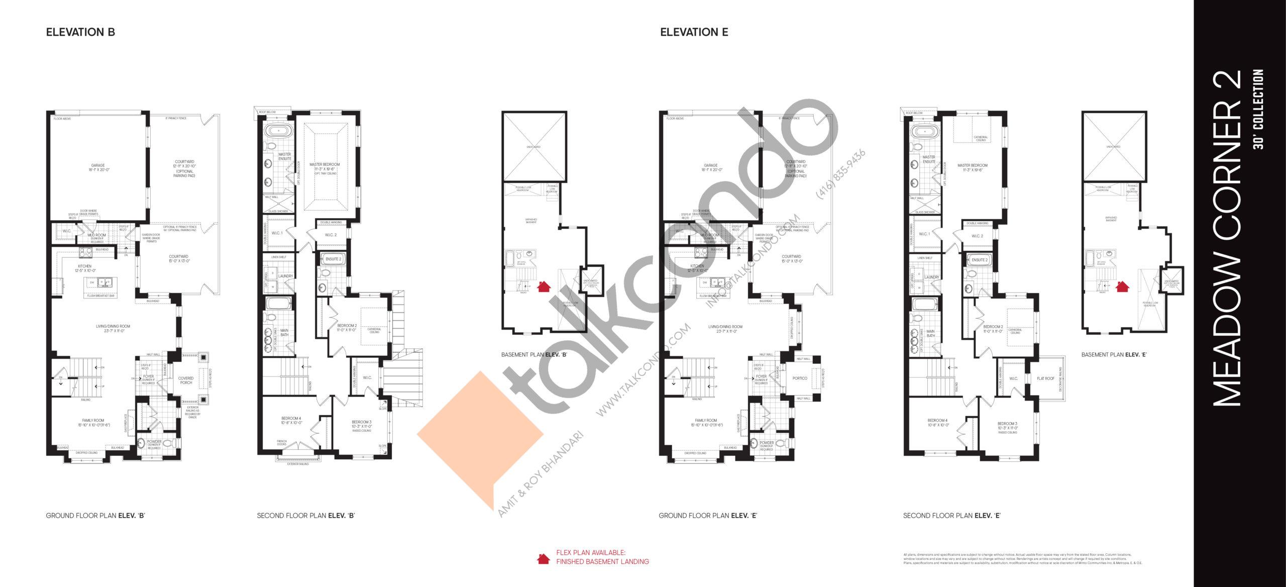 Meadow Corner 2 Elev B / Elev E - 30' Collection Floor Plan at Union Village - 2496 sq.ft
