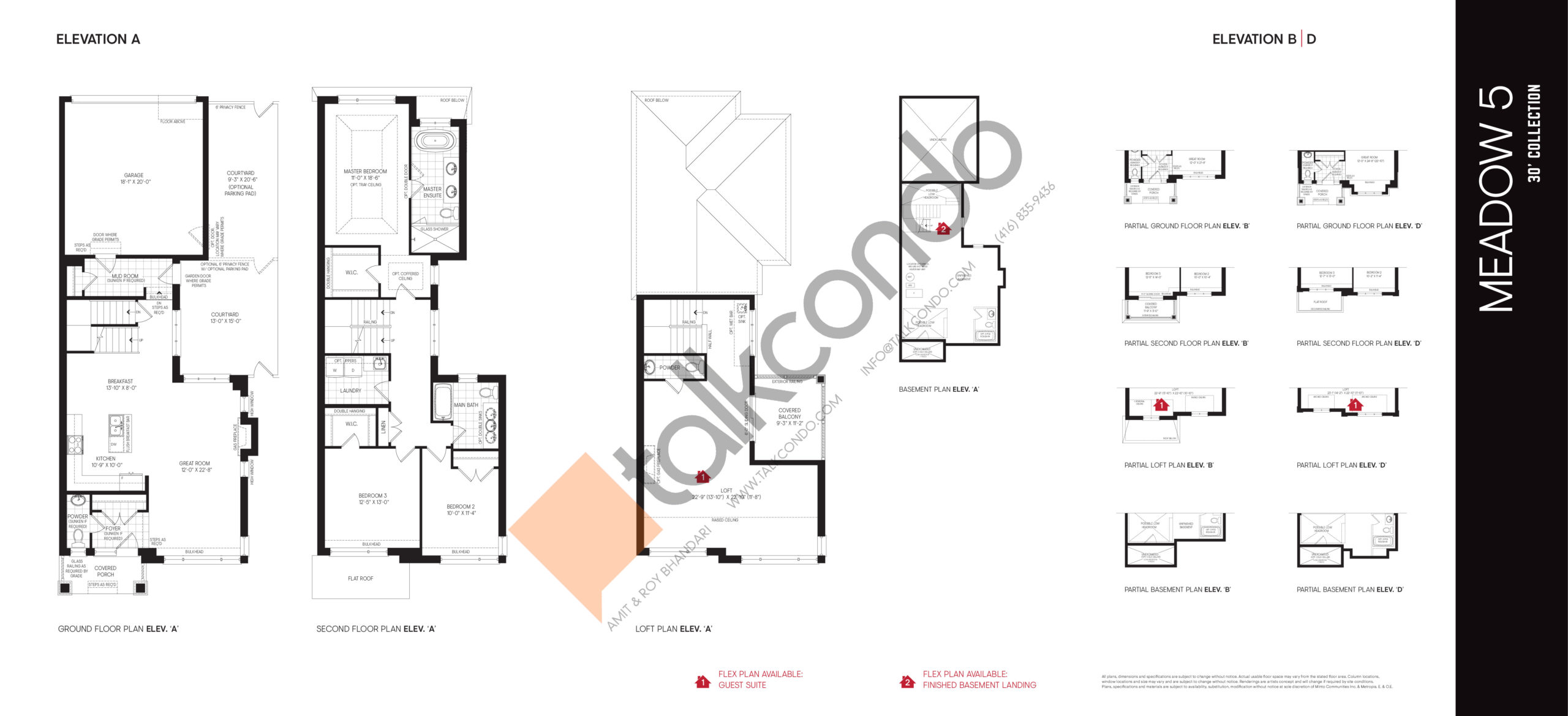 Meadow 5 - 30' Collection Floor Plan at Union Village - 2770 sq.ft