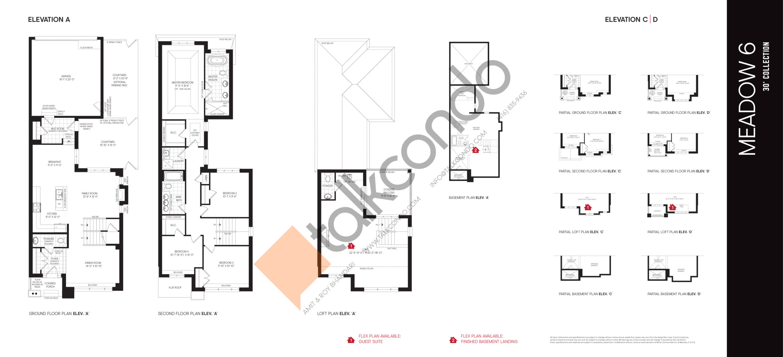 Meadow 6 - 30' Collection Floor Plan at Union Village - 2910 sq.ft