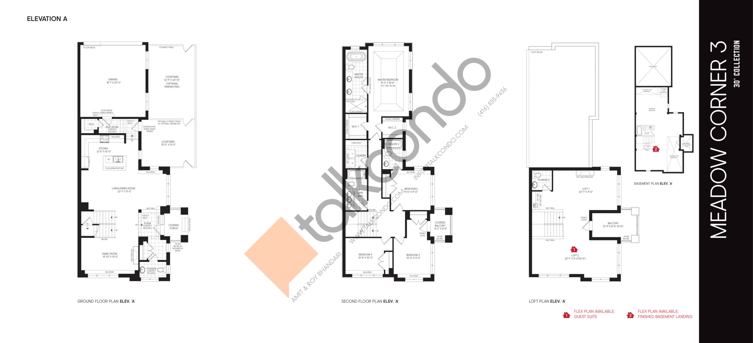 Meadow Corner 3 Elev A - 30' Collection Floor Plan at Union Village - 3202 sq.ft