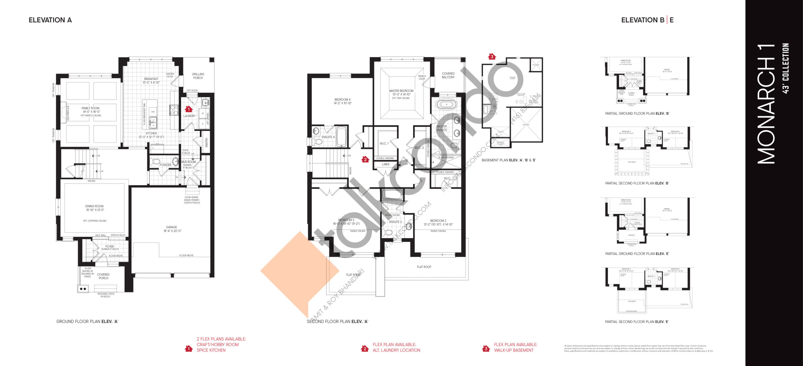 Monarch 1 - 43' Collection Floor Plan at Union Village - 2837 sq.ft