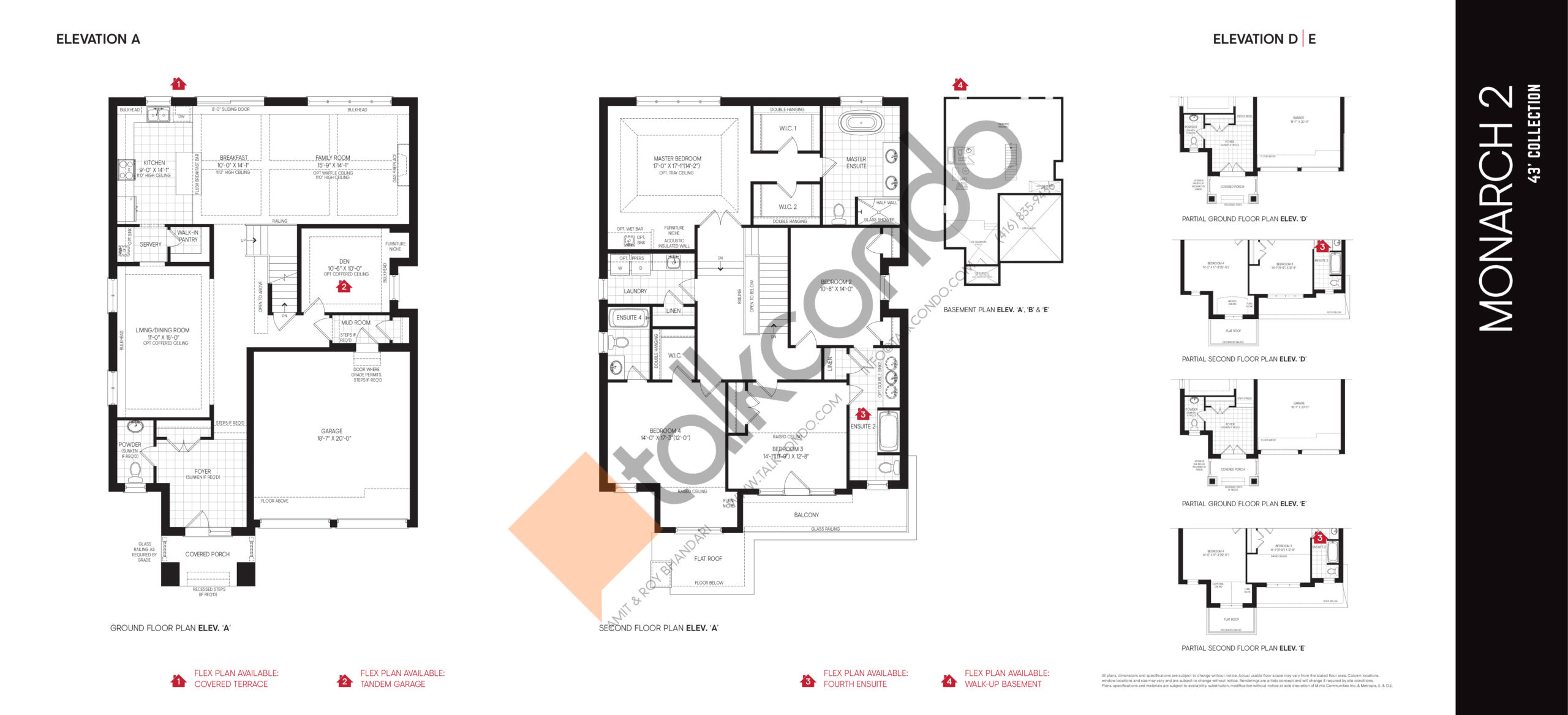 Monarch 2 - 43' Collection Floor Plan at Union Village - 3221 sq.ft