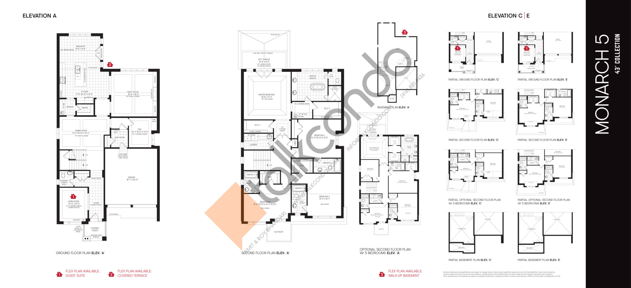 Monarch 5 - 43' Collection Floor Plan at Union Village - 3685 sq.ft