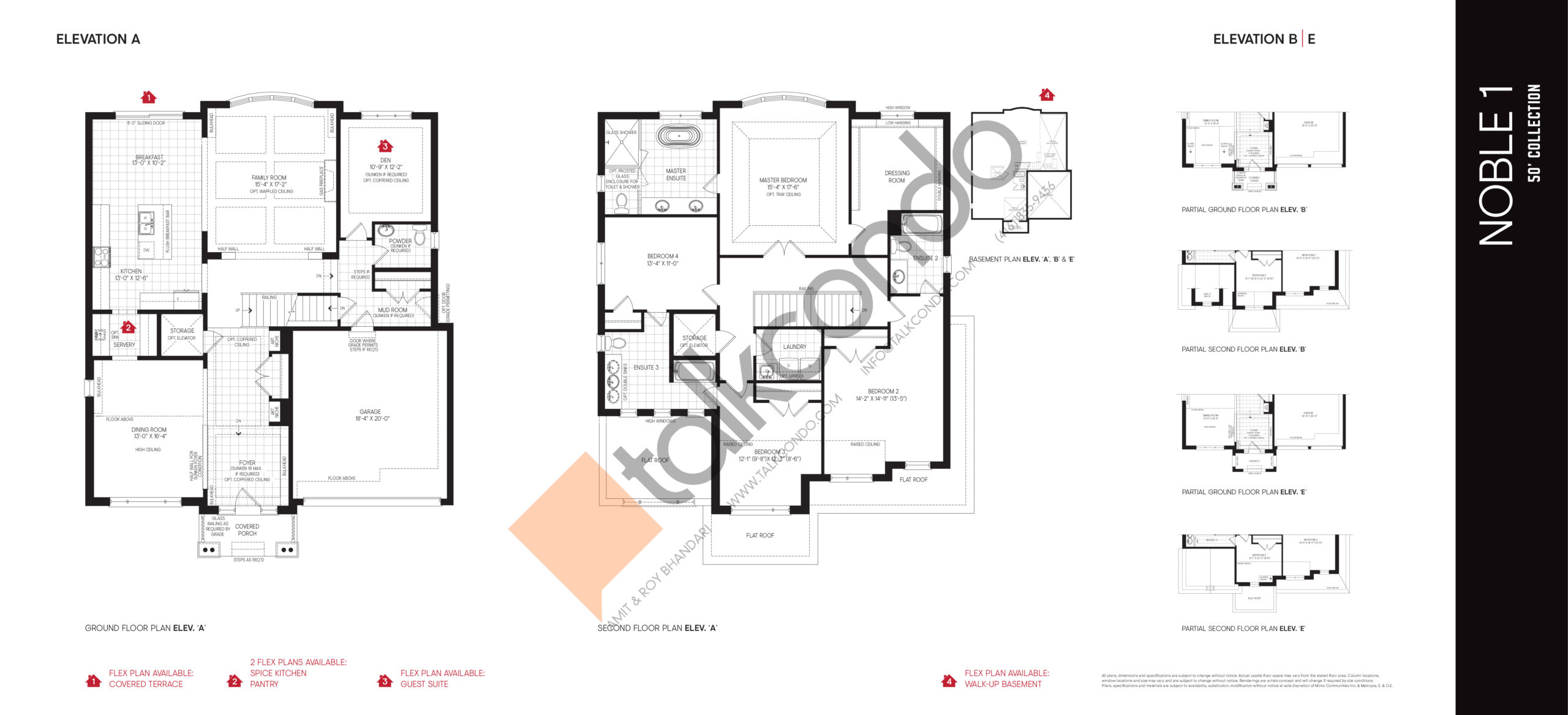 Noble 1 - 50' Collection Floor Plan at Union Village - 3446 sq.ft