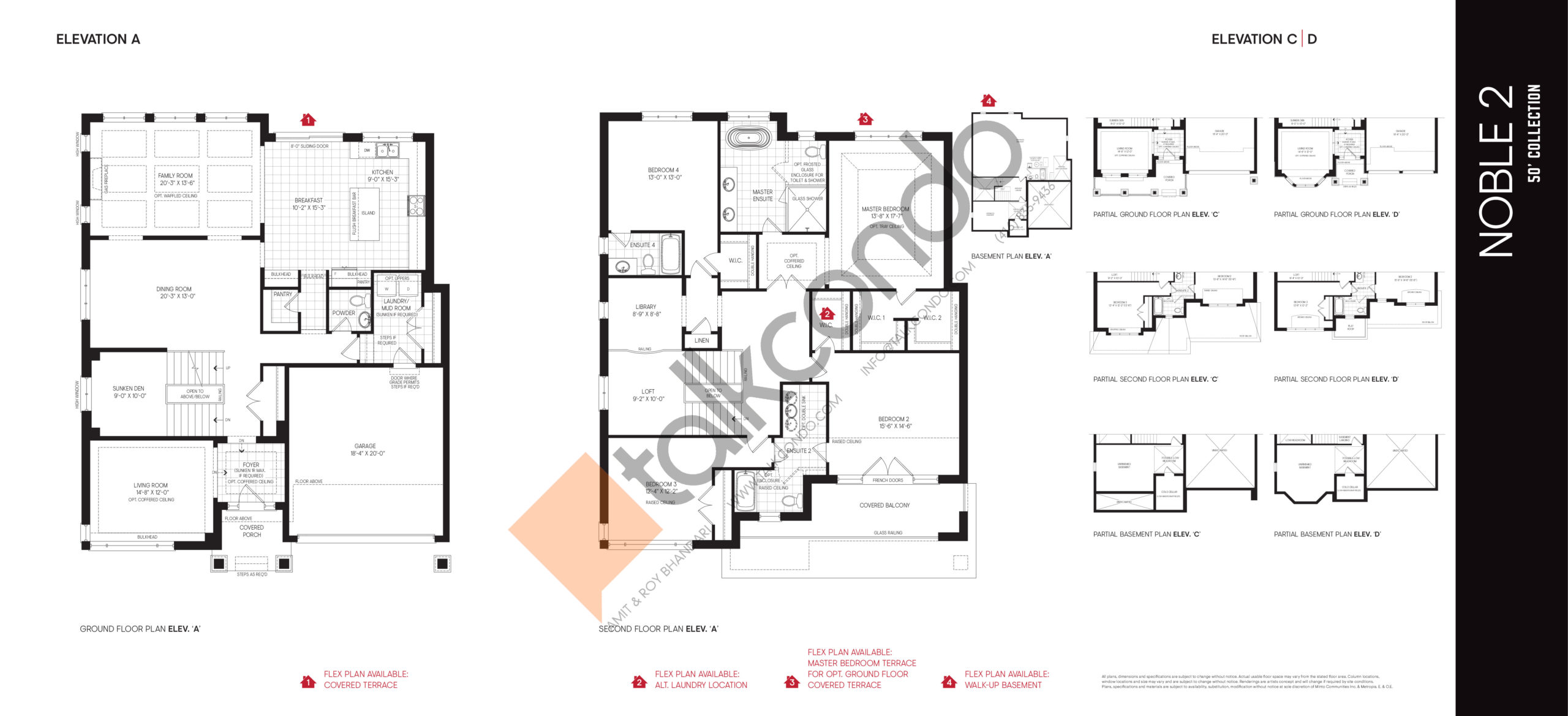 Noble 2 - 50' Collection Floor Plan at Union Village - 3918 sq.ft