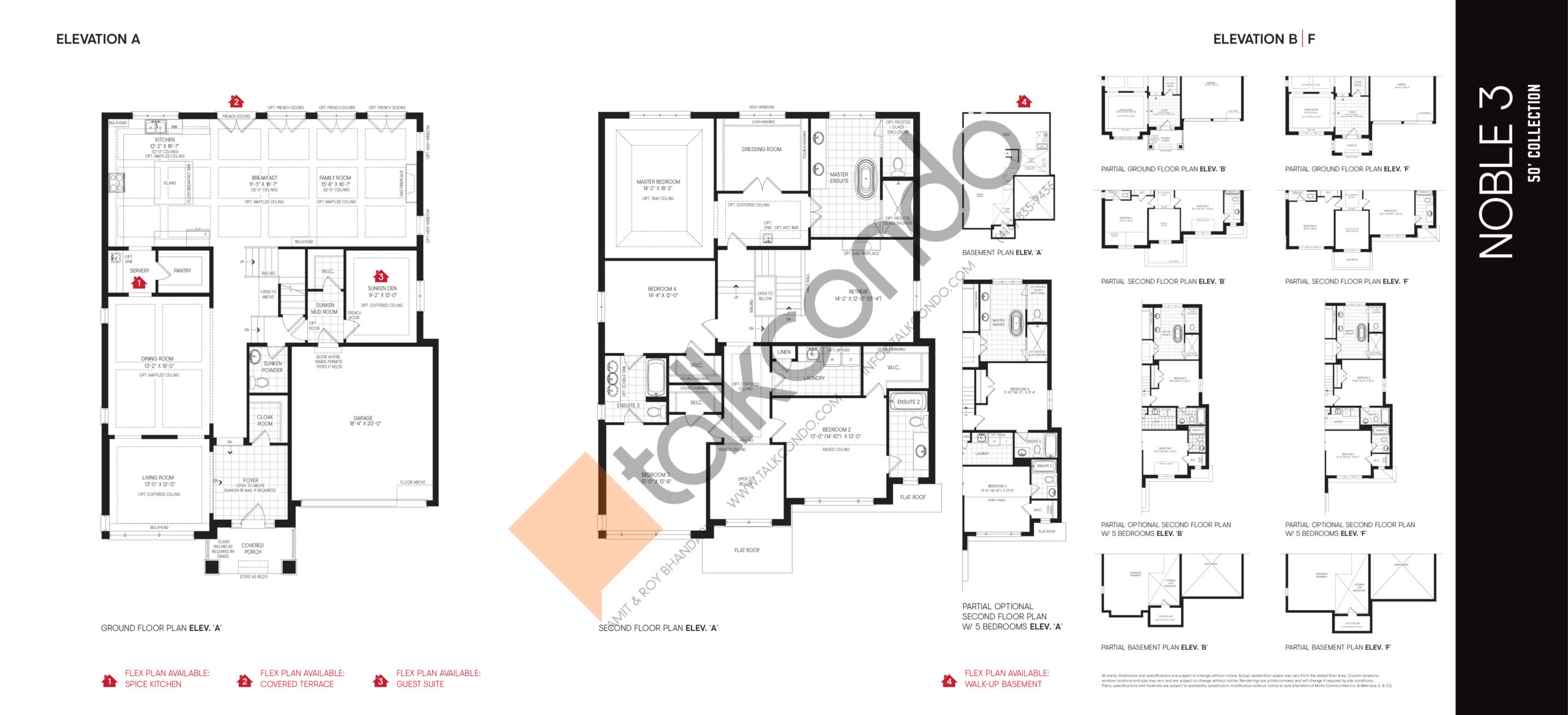 Noble 3 - 50' Collection Floor Plan at Union Village - 4147 sq.ft