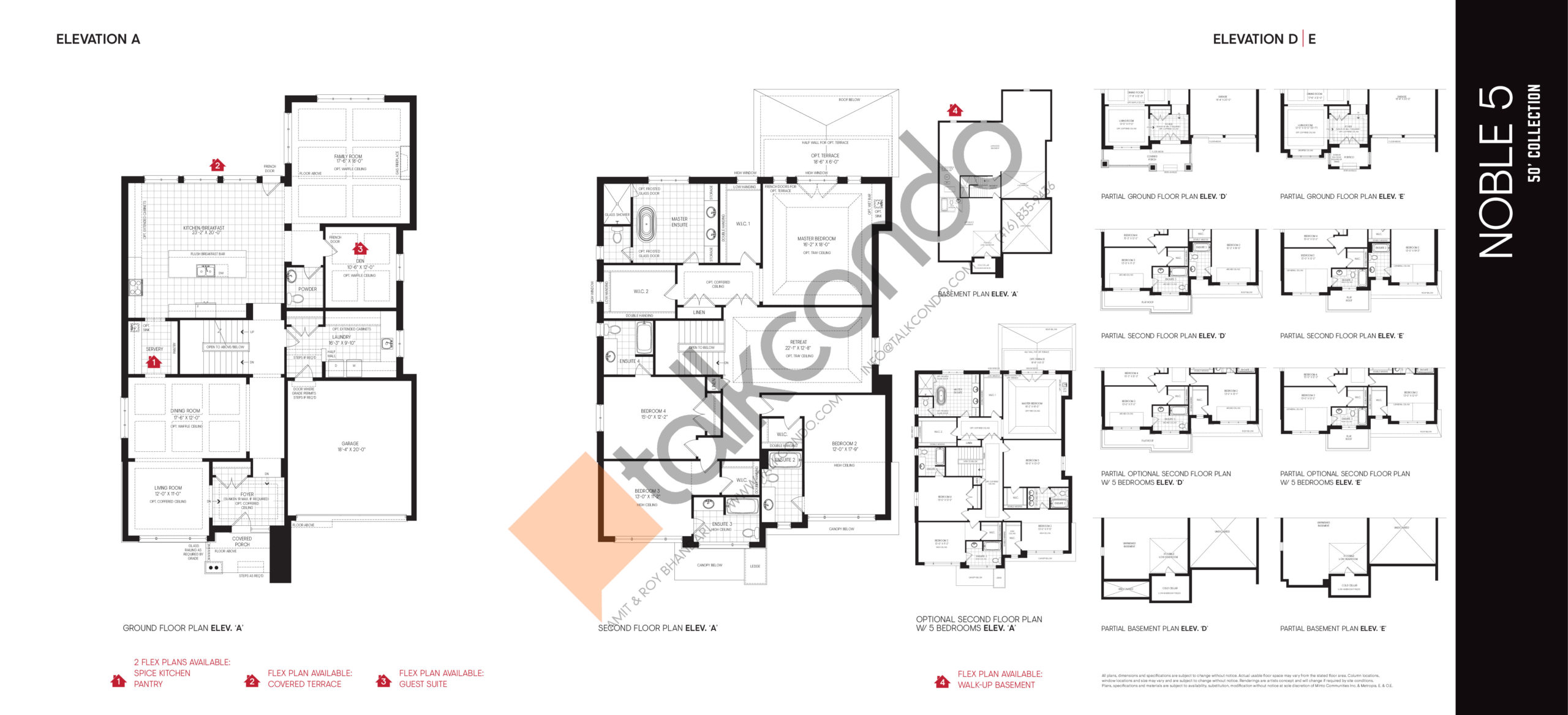 Noble 5 - 50' Collection Floor Plan at Union Village - 4508 sq.ft