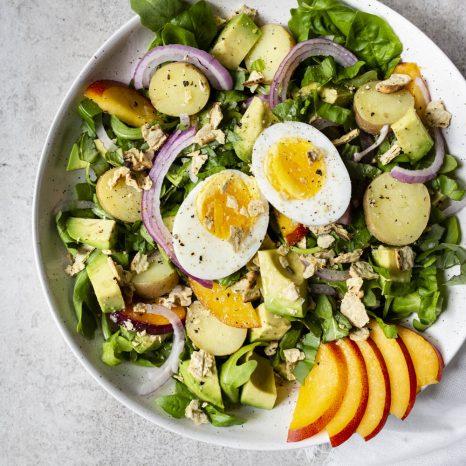 Salade-repas de pommes de terre grelots et nectarines