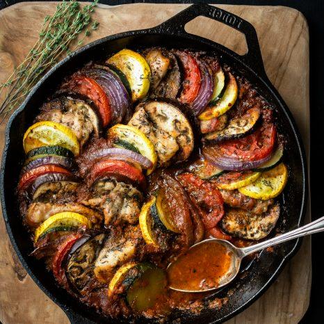 Ratatouille au poulet «one-pot»