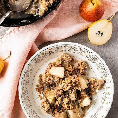 Croustade poires gingembre et érable