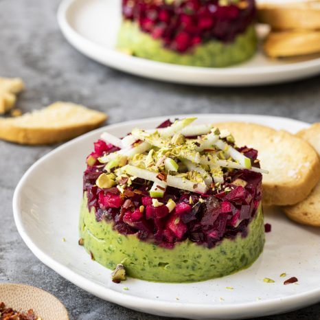 Tartare de betteraves à l'avocat