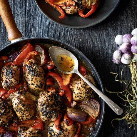 Poulet aux poivrons et érable «one pot»