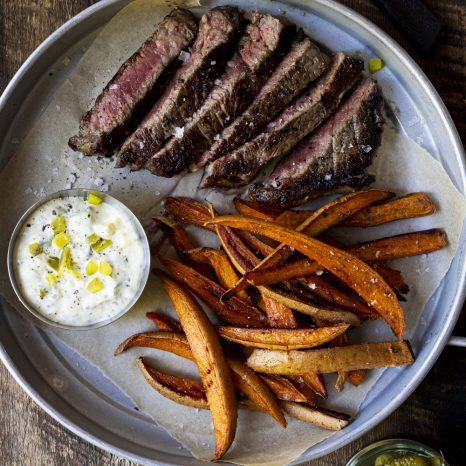 Steak-frites sauce tartare