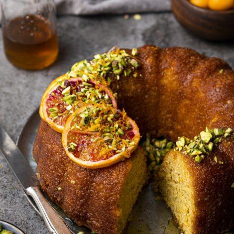 Gâteau à l'orange et sirop à l'érable